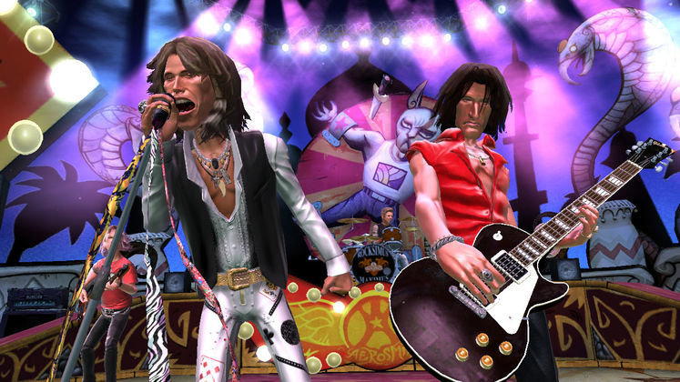Aerosmith to first rock, then trash the Guitar Hero stage