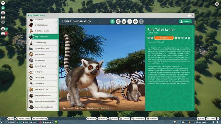 Planet Zoo Animal List - All Animals We Know Of