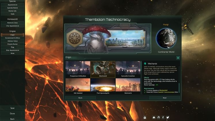The toughest Stellaris Federations origin gives you 64 years until your planet blows up