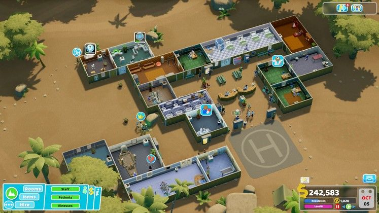Two Point Hospital Pebberley Island DLC Review