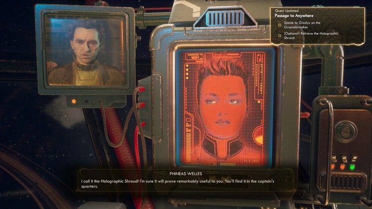 The Outer Worlds Holographic Shroud - How to activate your disguise