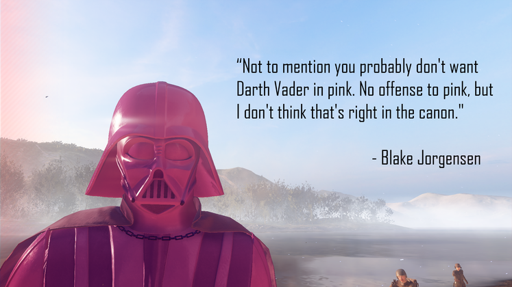 You can now play as Pink Darth Vader in Star Wars Battlefront 2 <UPDATE: How to do it! And EA confirms this is ok!>