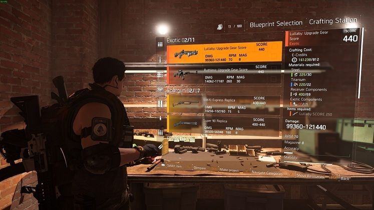 The Division 2 Lullaby Upgrade - How to Upgrade Exotic Weapons With Crafting