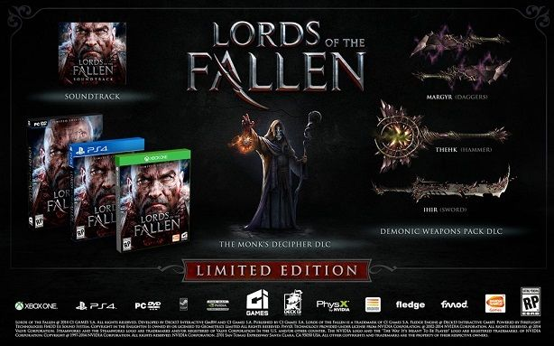 Square Enix announces pre-order story DLC for Lords of the Fallen