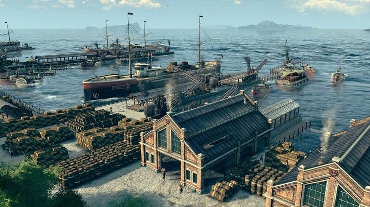 Anno 1800 Patch Notes - Update 10 Adds Open Water Building, Trade Route Grouping and More
