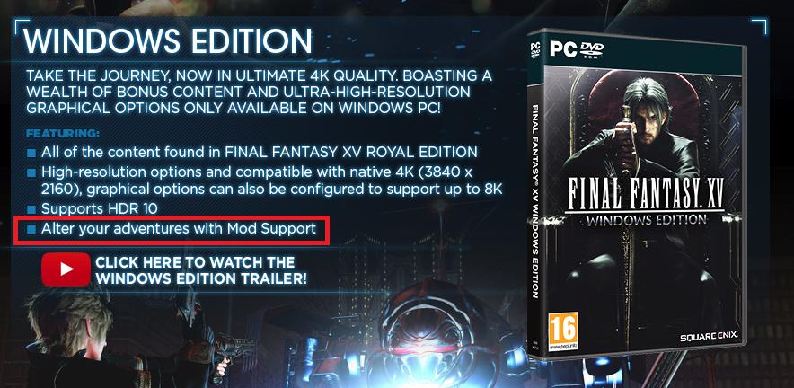 final fantasy xv 4k texture pack