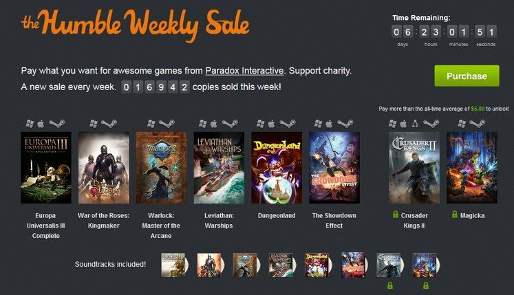 Paradox Interactive gets in on Humble Bundle weekly sale