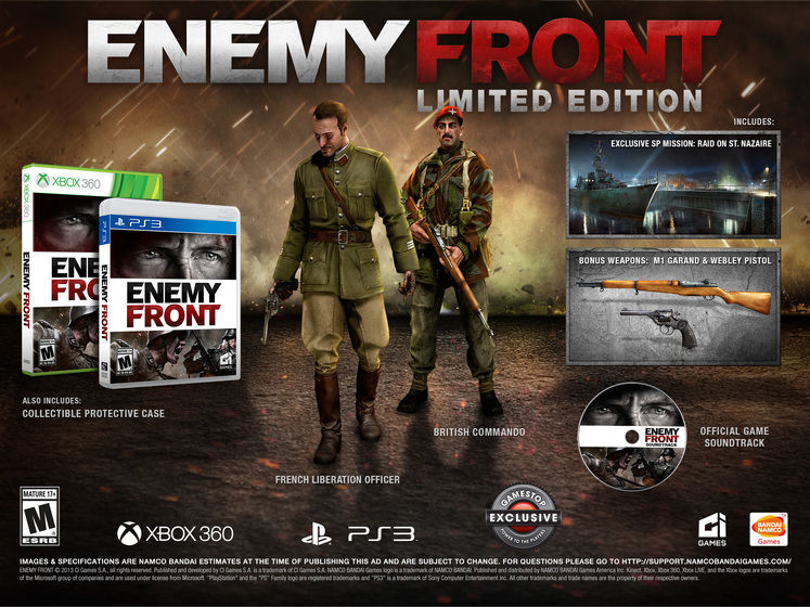 Enemy Front Limited Edition detailed