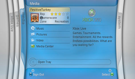 Xbox360's new dashboard 'optional',