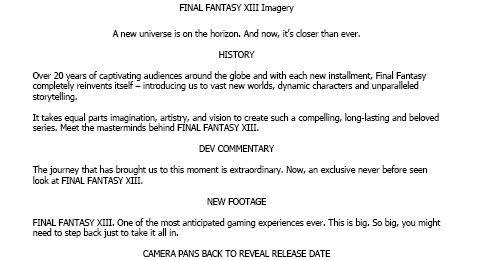 Final Fantasy XIII ad casting call shows Square revealing US date