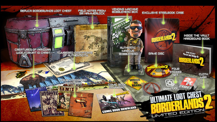 2K Games unveils Borderlands 2 Collector's Editions