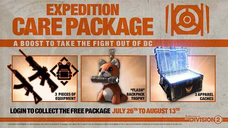 The Division 2 Expedition Special Care Package – July 26th - 13th August