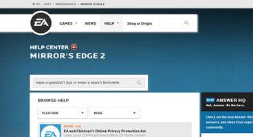 Mirror's Edge 2 listed on EA Help Center