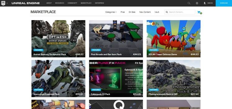 Unreal Engine Marketplace: New Revenue Sharing Ratio Announced