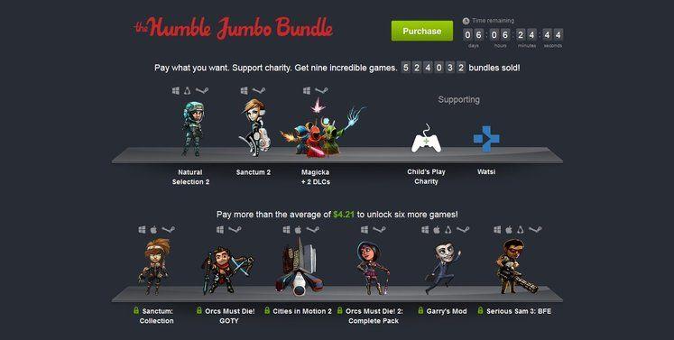 Humble Jumbo Bundle includes Natural Selection 2, Orcs Must Die, Sanctum 2