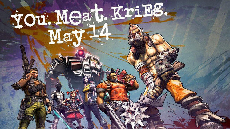 Krieg the Psycho Bandit DLC arrives on 14th May for Borderlands 2
