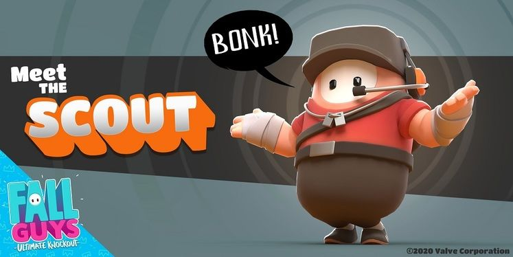 Fall Guys Reveals Team Fortress 2 Scout Costume, Available Today