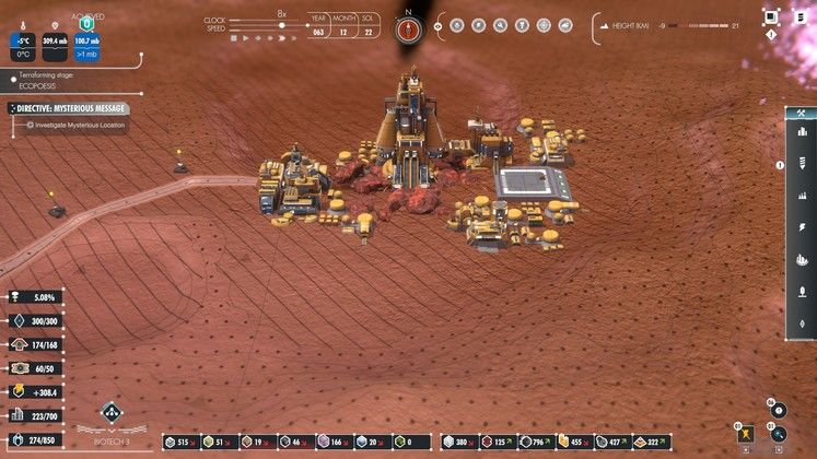 Terraform Mars in this narrative driven planetary scale base builder