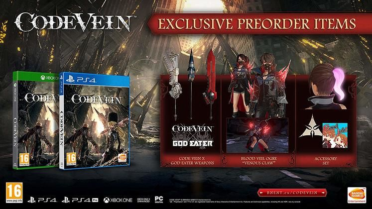 Code Vein Pre-order Items - Are the Venous Claw and God Eater bonuses available to buy as DLC?