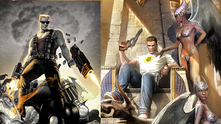 Duke Nukem and Serious Sam in a game together for the first time
