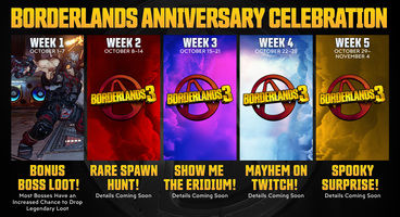 Borderlands 3 Celebrates the Series' 10-year Anniversary With Five Weeks' Worth of Events