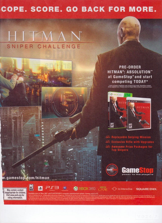 Hitman: Sniper Challenge revealed by Game Informer