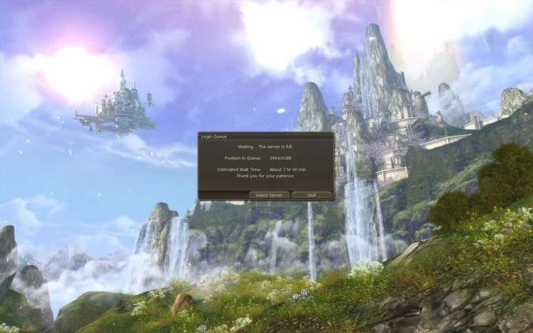 Aion buckling under sheer numbers, early access floods the MMO