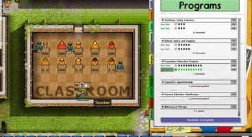 Prison Architect Alpha 18 introduces 'reform programs' for rehabilitation, tasers