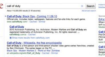 EA/Activision War Spills Onto Google