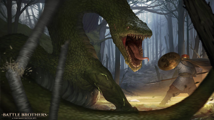 Hunt Down And Slaughter The Lindwurm For Its Treasure In Some New (Free) Battle Brothers DLC Today