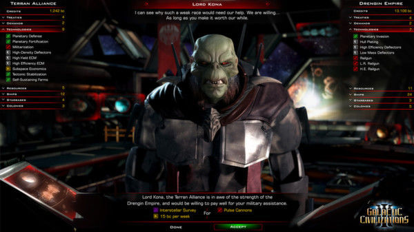 Galactic Civilizations updated to Beta 2 version, with trade, diplomacy and a new alien race