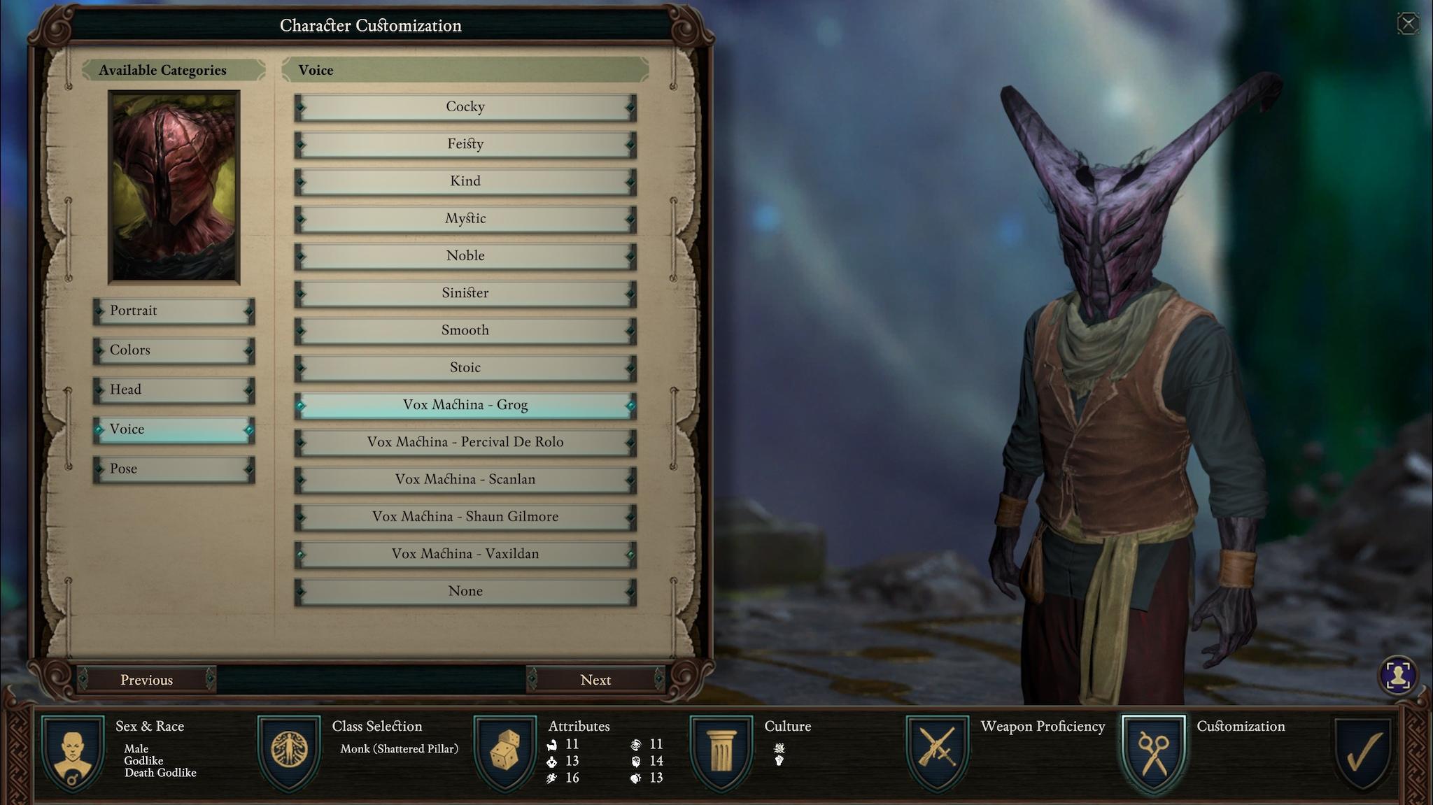 pillars of eternity 2 deadfire character creation gamewatcher
