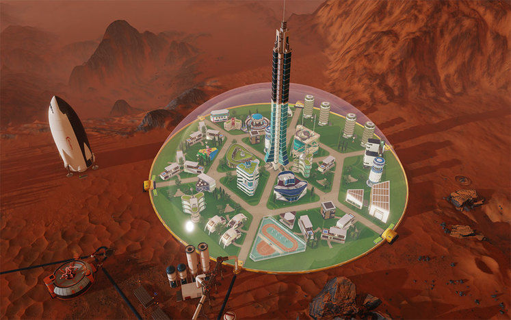 Surviving Mars Colonists Are Really Happy About Concrete