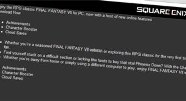 Rumour: Final Fantasy VII listed for Steam, achievements and cloud saves