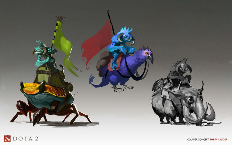 DOTA 2 International Interactive Compendium sales unlock Smeevil courier mounts