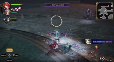 Striker-Type Servans Act A Little Differently In Nights of Azure 2: Bride Of The New Moon