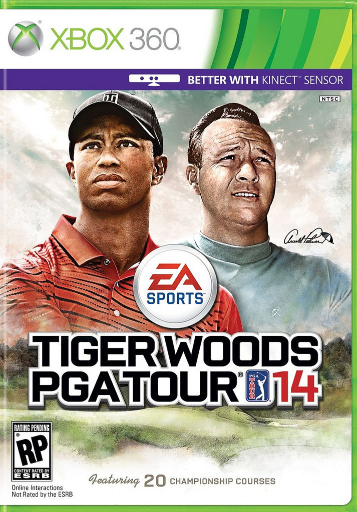 Arnold Palmer joins Tiger on cover of Tiger Woods PGA Tour 14