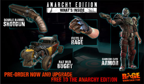 Free Anarchy Edition upgrades for UK pre-orders of id's Rage