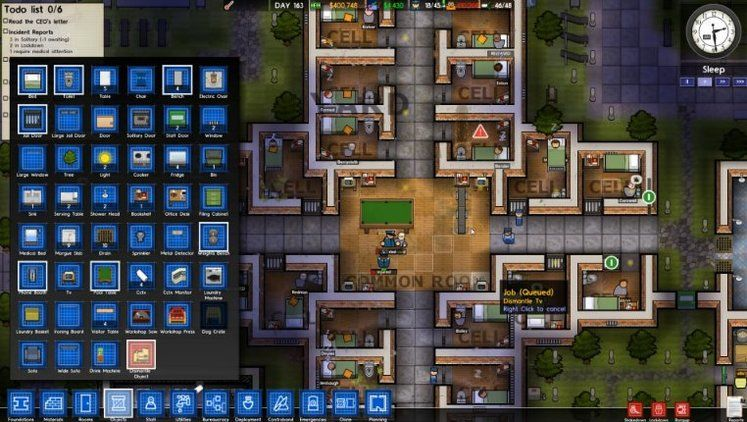 Prison Architect Update 15 adds better mod support, clock speed, guard break rooms