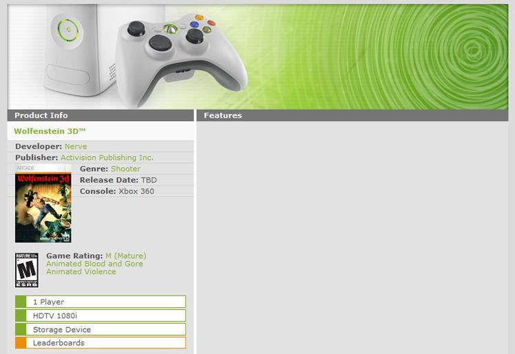 Activision bringing Wolfenstein 3D to XBLA, Microsoft blow surprise