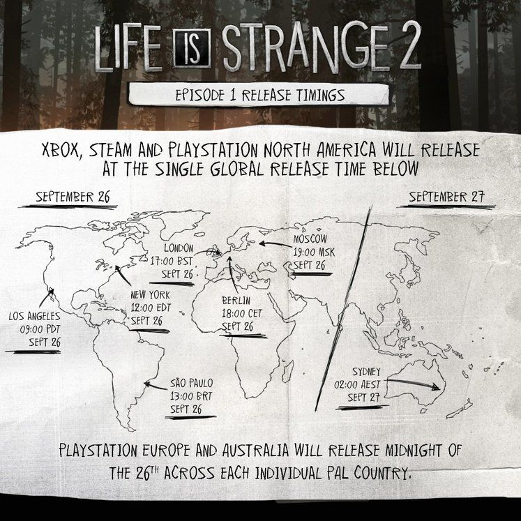 Life is Strange 2 Steam Unlock Times, Preorder Bonuses, Complete Season Content, System Requirements