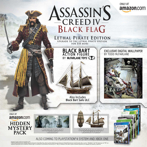 Assassin's Creed 4 Lethal Pirate Edition exclusive to Amazon.com