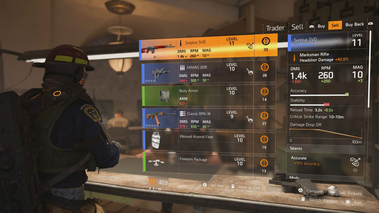 The Division 2 Cassie Mendoza - Snitch Vendor Locations