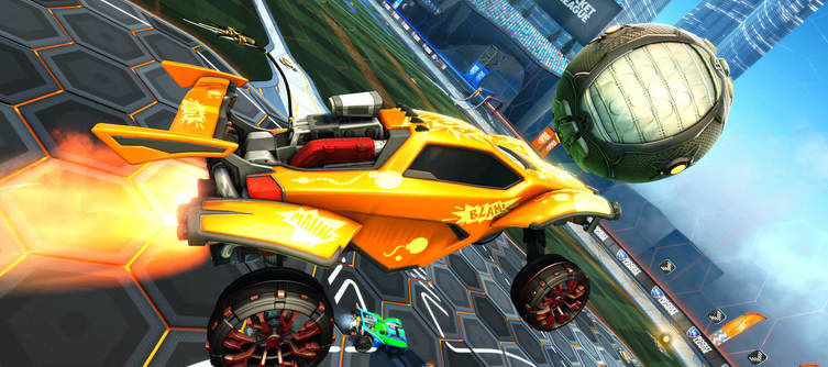 Rocket League's Draco Holographic Wheels Now Available In the Item Shop