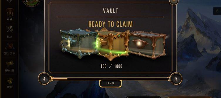 Legends of Runeterra Weekly Vault - Ranks, Rewards, Upgrades