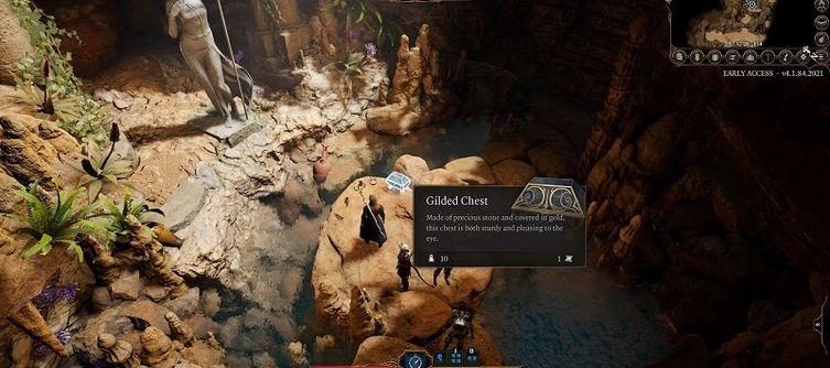Baldur's Gate 3 Owlbear Cave Gilded Chest - How to Open