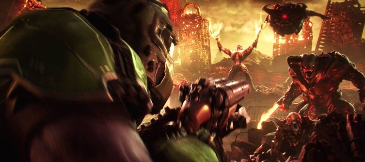 First Doom Eternal Gameplay Shows Off The Shotgun/Grapple Combo You Always Wanted