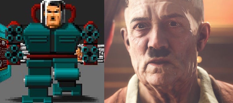 "Wolfenstein 2's Hitler ""Remembers"" Fighting BJ As Mecha-Hitler in Wolfenstein 3D"