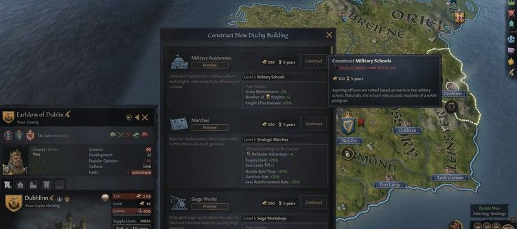 Crusader Kings 3 Duchy Buildings - How They Work and Whether or Not There's A Best One