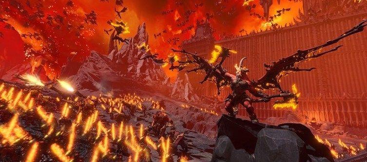 Skarbrand Leads the Daemons of Khorne in Total War: Warhammer 3